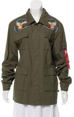 Alpha Industries Embroidered Denim Jacket