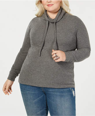 Planet Gold Derek Heart Trendy Plus Size Cowl-Neck Top
