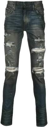 Amiri cashmere patch jean indigo