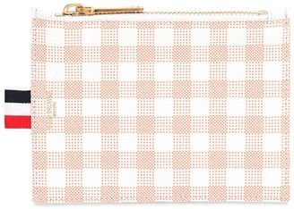 Small Gingham Printed Grained Coin Purse $410 thestylecure.com