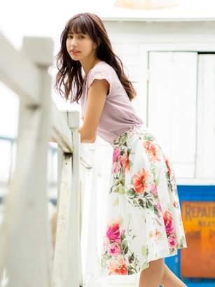 PATTERN fiona (パターンフィオナ) - パターン・フィオナ 花柄タックミディスカート