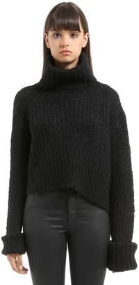 Ann Demeulemeester Trapper Mohair Blend Knit Sweater