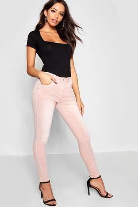 boohoo Chain Mail Side Stripe Skinny Jeans
