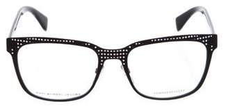 Marc by Marc Jacobs Perforated Square Eyeglasses