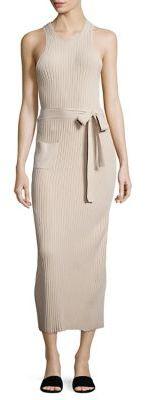 Helmut Lang Ribbed Waist Tie Dress $595 thestylecure.com
