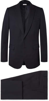 Dries Van Noten Navy Cotton-Blend Suit