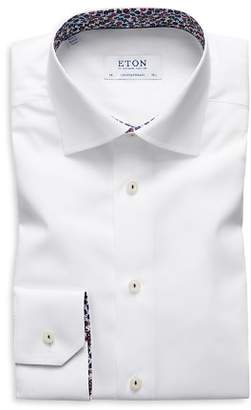 Eton Floral-Accent Regular Fit Dress Shirt
