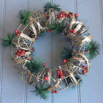 The Christmas Home Plaited Bark Christmas Wreath