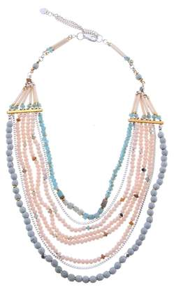 Nakamol Design Agate & Crystal Long Multistrand Necklace