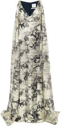 Ingie Paris tie dye print maxi dress