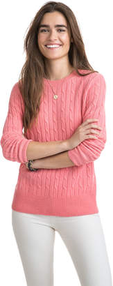 Vineyard Vines Cashmere Coral Lane Cable Sweater