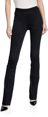 Helmut Lang Full-Length Flare Ponte Legging Pants