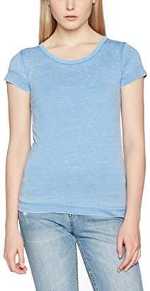 Vila Women's VIFIGARMA S/S TOP T-Shirt, Silver Lake Blue, (Size: L)