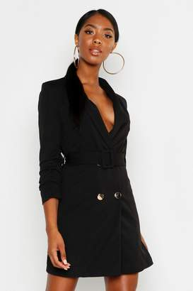 boohoo Tall Belted Blazer Dress