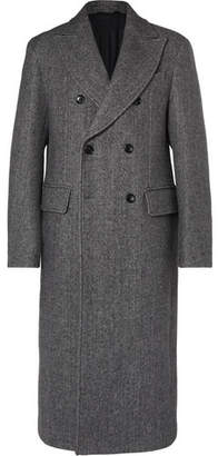 Joseph Glastonbury Double-Breasted Cotton-Blend Overcoat