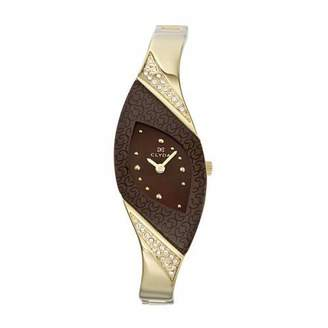 Clyda Women's Analog Quartz Watch with Dial and Golden Stainless Steel Bracelet - CLH0038HMPW