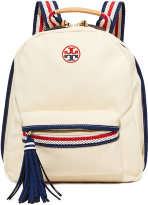 Tory Burch Preppy Canvas Backpack $250 thestylecure.com