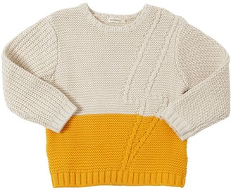 Billybandit Intarsia Cotton Blend Knit Sweater
