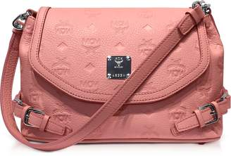 MCM Pink Blush Signature Monogrammed Leather Small Crossbody Bag