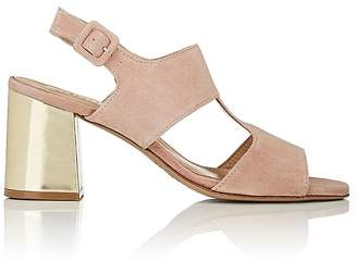 Barneys New York Women's Block-Heel Suede Slingback Sandals