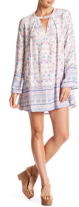 En Creme Long Sleeve Keyhole Dress $54 thestylecure.com