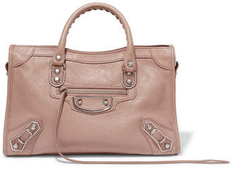 Balenciaga Metallic Edge City Small Textured-leather Tote - Antique rose