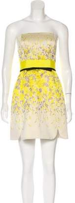 Giambattista Valli Strapless Mini Dress Yellow Strapless Mini Dress