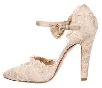 Chanel CC Lace Bow Pumps