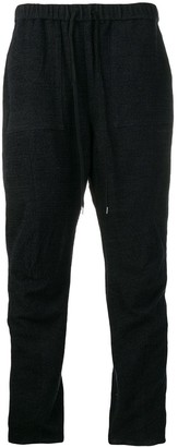 Individual Sentiments woven track trousers