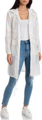 AVEC LES FILLES Iridescent Nylon Anorak Jacket
