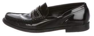 Saint Laurent Studded Patent-Leather Penny Loafers