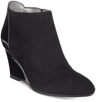 Bandolino Yihana Wedge Ankle Booties $89 thestylecure.com