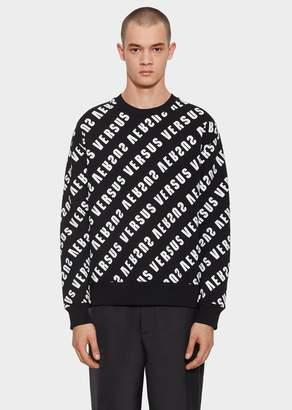 Versace Diagonal Versus Logo Sweatshirt
