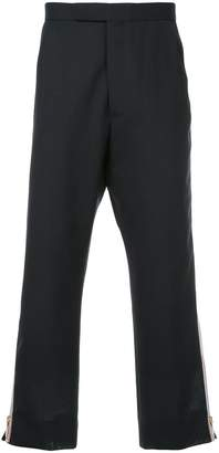 Thom Browne Side Zip Backstrap Trouser In 2 Ply Fresco