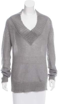 Moncler Semi-Sheer Mohair Sweater