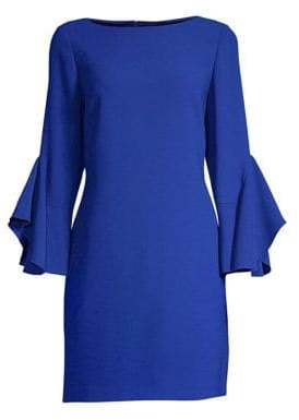 Elie Tahari Dori Flare-Sleeve Sheath Dress