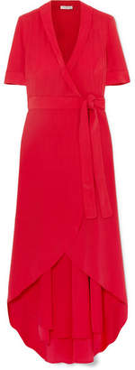Equipment Imogene Silk Wrap Midi Dress - Red