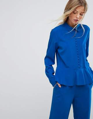 Gestuz Button Down Flare Blouse Co-ord