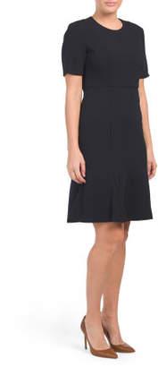 Split Sleeve Crepe Dress