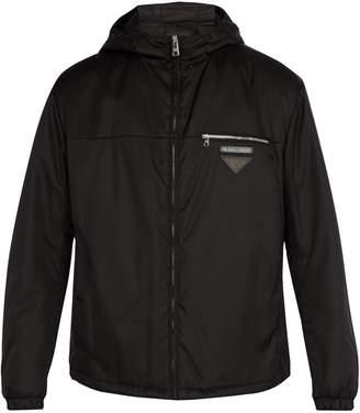 Prada Hooded nylon short jacket