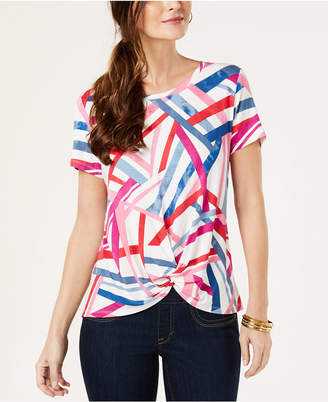 Style&Co. Style & Co Petite Twist-Front Top