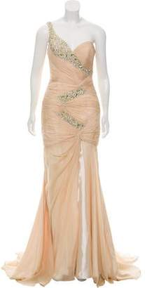 Terani Couture One-Shoulder Evening Dress