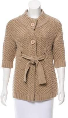 Vince Wool Short Sleeve Cardigan