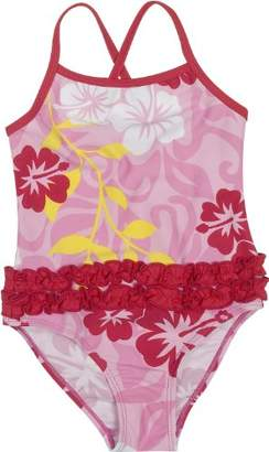 Playshoes Girl's UV Sun Protection Bathing Suit Hawaii Swimsuit,7 Years (Manufacturer Size:122/128 (7-8 Years))