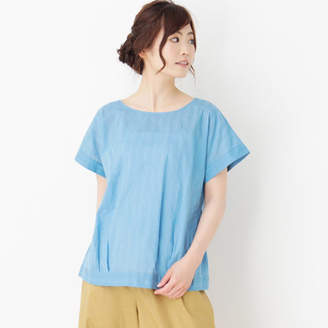 PINK adobe (ピンク アドベ) - pink adobe 【裾タックデザイン】カラミバックリボンシャツ