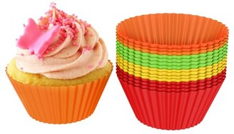 Silicone Baking Cups/Cupcake Liners, Silicone Reusable Nonstick Muffin Molds, Microwave and Dishwasher Safe Bakeware, Set of 24 Cups by Chef Buddy