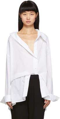 Ann Demeulemeester SSENSE Exclusive White Asymmetric Shirt