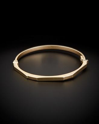 14K Italian Gold Geometric Bangle