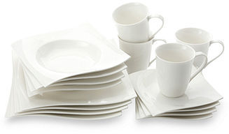 Maxwell & Williams White Basics Dinnerware, Motion 16 Piece Set