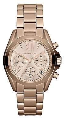 Michael Kors Women's Rose Goldtone Stainless Steel Chronograph Watch